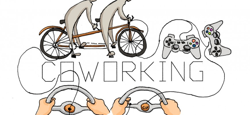 To cowork is like riding a tandem bike